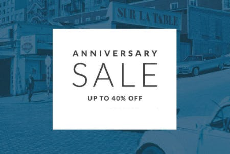 Up to 40% Off Anniversary Sale from Sur La Table