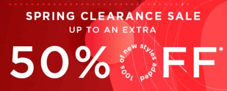 Up to an Extra 50% Off Spring Clearance Sale