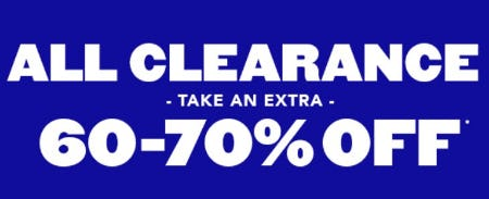 Take an Extra 60-70% Off Clearance