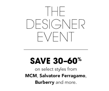Save 30-60% The Designer Event from Bloomingdale's