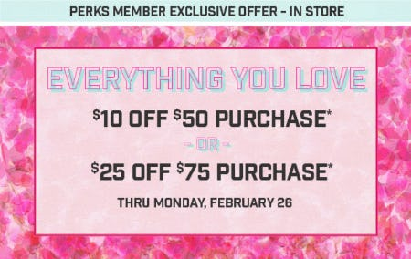Up to $25 Off with $75 Purchase