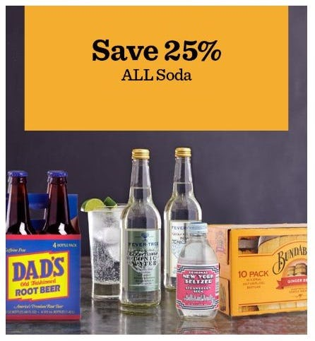 25% Off All Soda from Cost Plus World Market