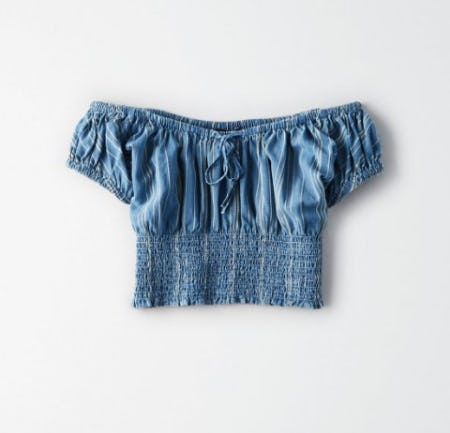 AE Smocked Crop Top