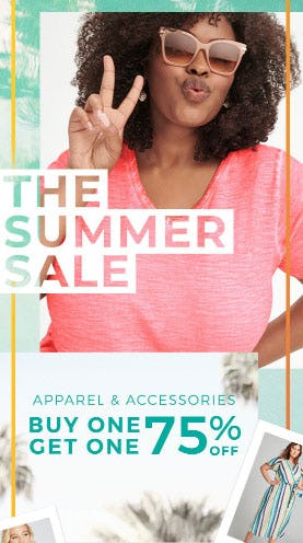 BOGO 75% Off Apparel & Accessories