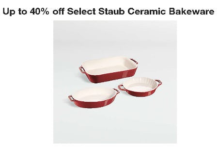 Up t0 40% Off Select Staub Ceramic Bakeware from Crate & Barrel