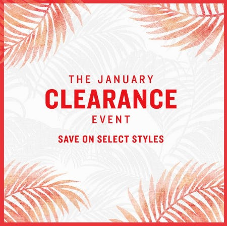 The January Clearance Event from Tommy Bahama