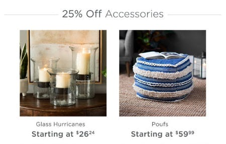 25% Off Accessories from Kirkland's