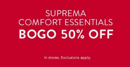 BOGO 50% Off Suprema Comfort Essentials