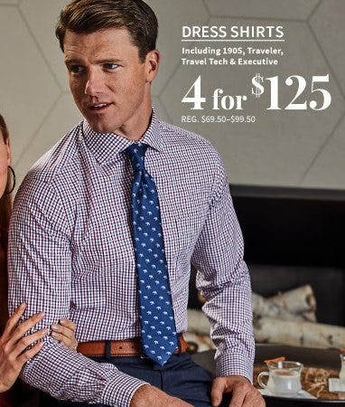Dress Shirts 4 for $125 from Jos. A. Bank