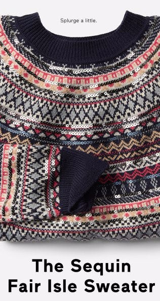The Sequin Fair Isle Sweater