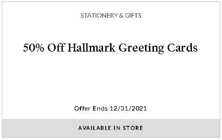50% Off Hallmark Greeting Cards