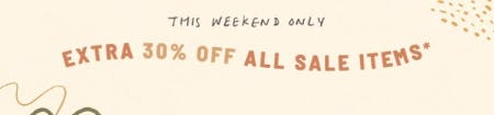 Extra 30% Off All Sale Items from Anthropologie