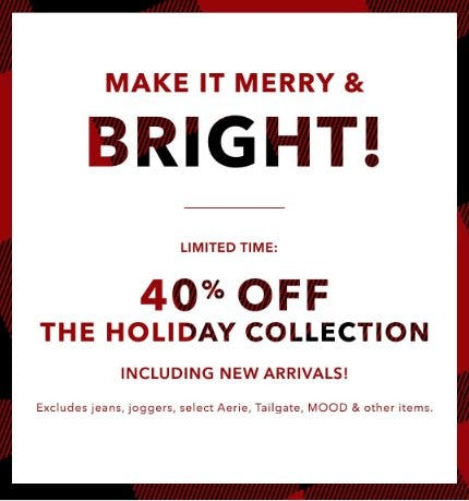 40% Off the Holiday Collection from American Eagle Outfitters