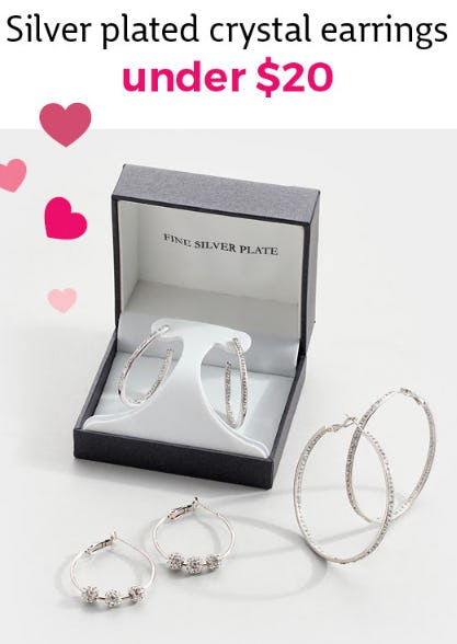 Silver Plated Crystal Earrings Under $20 from Stein Mart