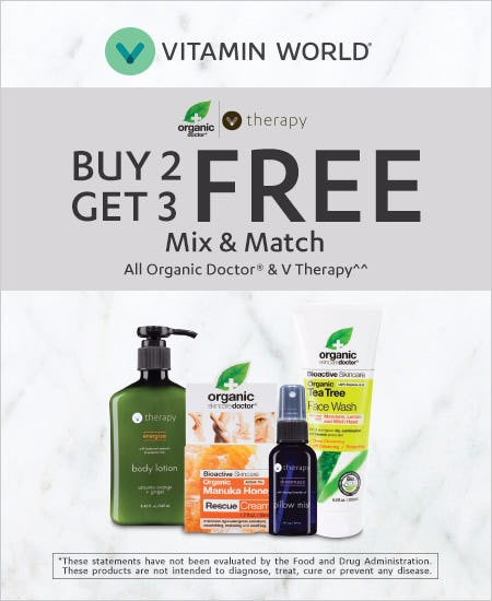 Buy 2 Get 3 Free Mix & Match all Organic Doctor & V Therapy