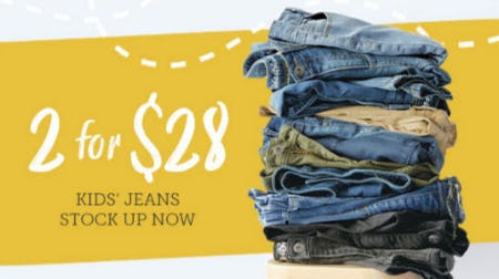 2 for $28 Kid's Jeans from Eddie Bauer