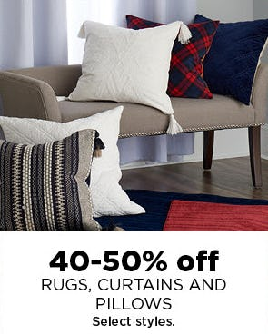 40-50% Off Rugs, Curtains and Pillows from Kohl's
