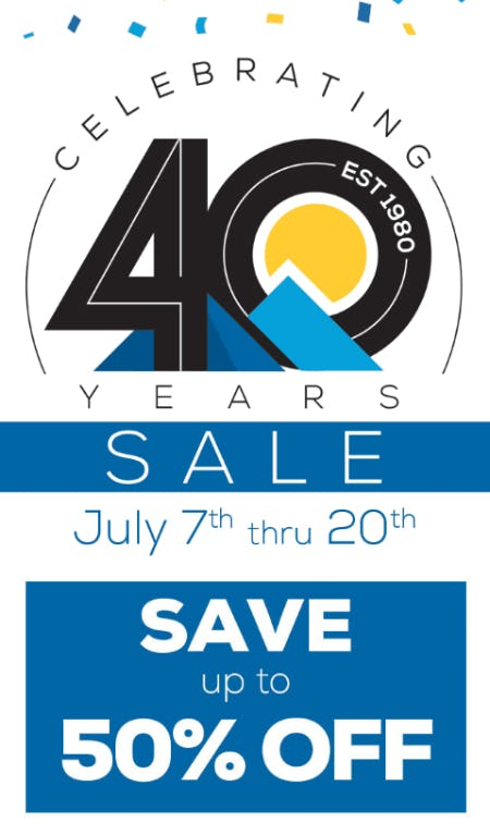 Celebrating 40 Years Sale from Sun & Ski Sports