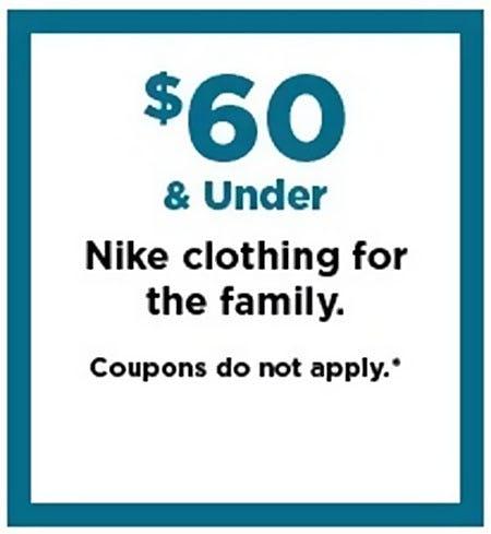 $60 & Under Nike Clothing