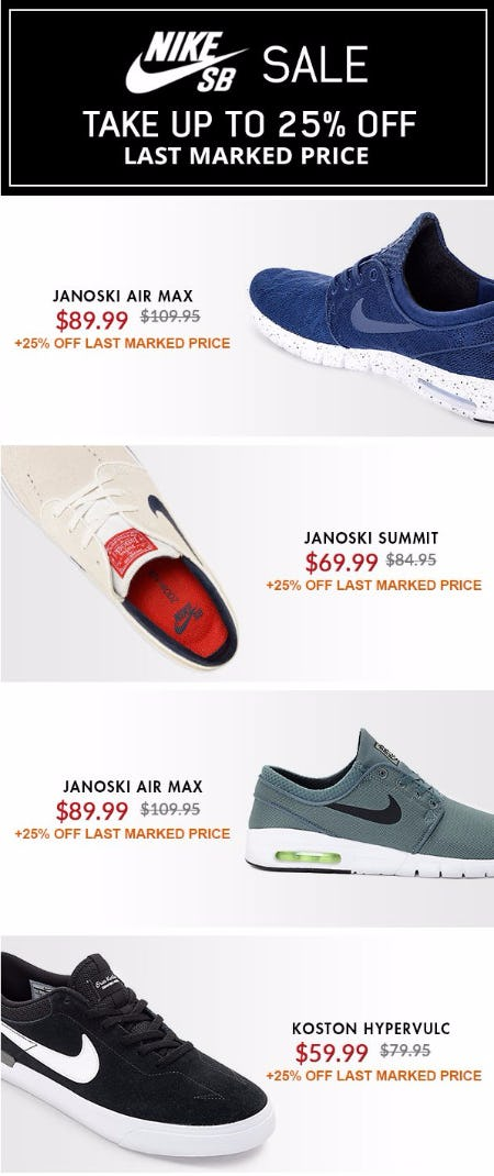Nike SB Sale Up to 25% Off