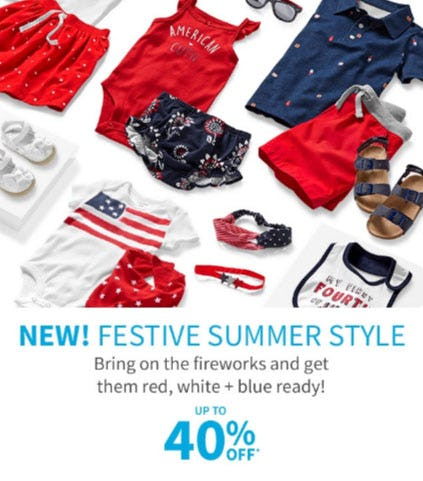 Up to 40% Off Festive Summer Style