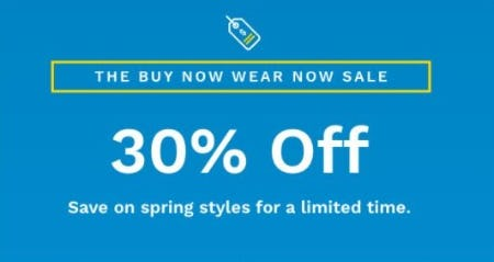 30% Off Spring Styles from Cole Haan