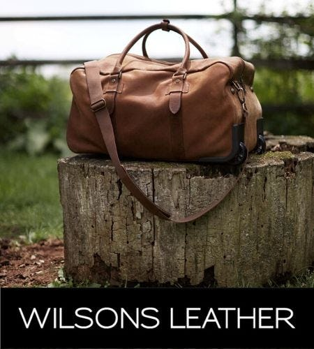 It's Travel Season! Up To 80% Off Entire Store! from Wilsons Leather