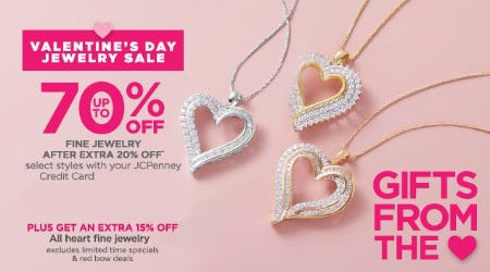Valentine's Day Jewelry Sale up to 70% Off