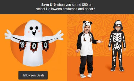 Save $10 When You Spend $50 on Halloween Deals from Target