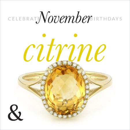 30% Off: November Citrine Birthstone Jewelry Sale from Ashcroft & Oak Jewelers