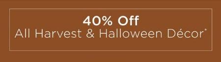 40% Off All Harvest & Halloween Decor from Kirkland's