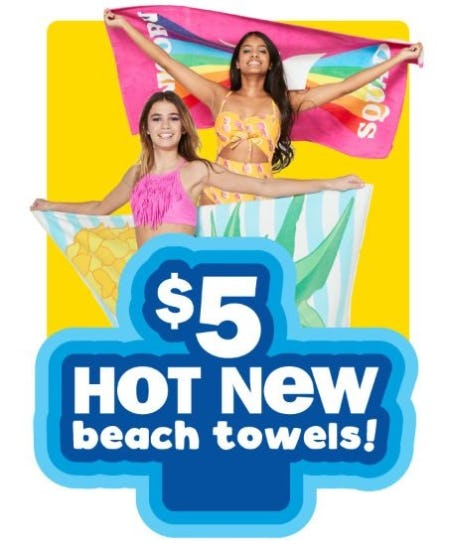 $5 Hot New Beach Towels from Five Below