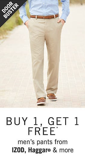 B1G1 Free on Men's Pants from Belk