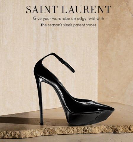 Sleek New Saint Laurent Shoes from Neiman Marcus