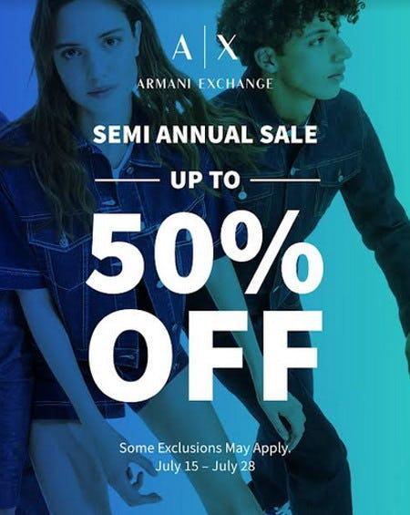 A|X Armani Exchange Semi Annual Sale from A|X Armani Exchange
