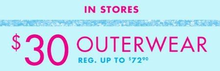 $30 Outerwear