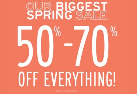 50%-70% Off Everything from Aéropostale