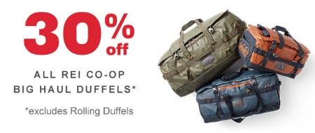 30% Off All REI Co-op Big Haul Duffels from REI