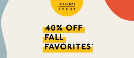40% Off Fall Favorites
