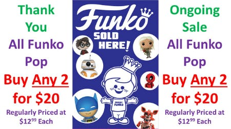 2Fer20 Funko Pop Sale Ongoing