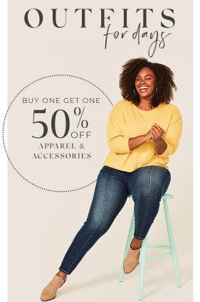 Buy One, Get One 50% Off Apparel & Accessories from Lane Bryant