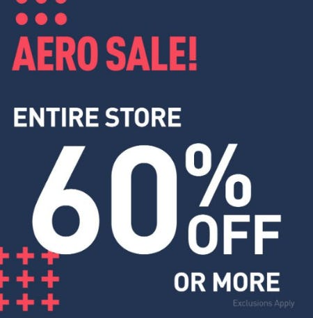 Entire Store 60% Off or More from Aéropostale