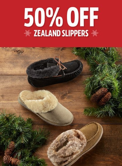 50% Off Zealand Slippers from THE WALKING COMPANY