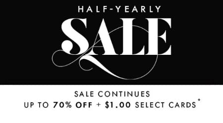Up to 70% Off Half-Yearly Sale from PAPYRUS
