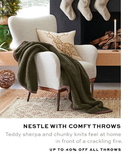 Up to 40% Off All Throws from Pottery Barn