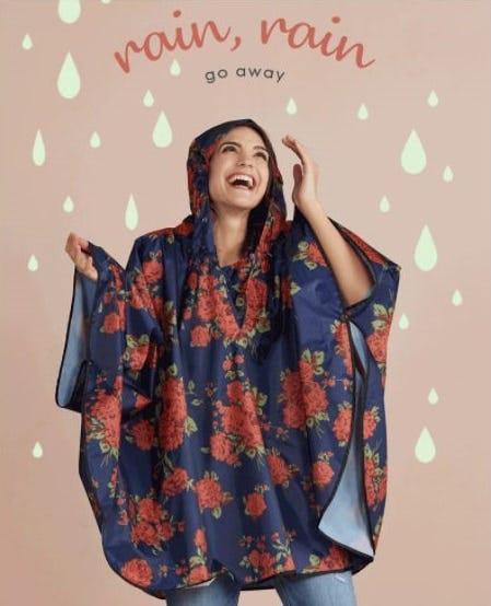 Stylish Raincoats on Rainy Days from Versona Accessories