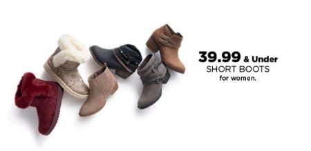 $39.99 & Under Short Boots for Women