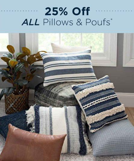 25% Off All Pillows & Poufs from Kirkland's Home
