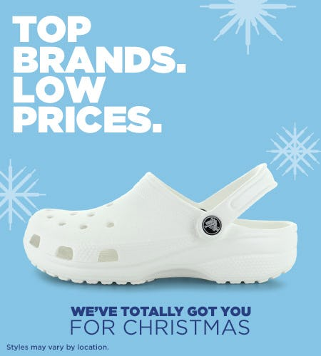 We've Totally Got You for Christmas from Shoe Show