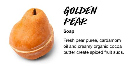 Golden Pear Soap from LUSH